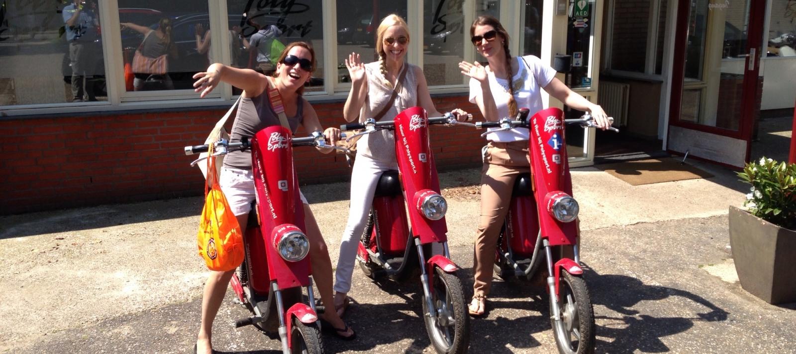Scooteren op de Veluwe